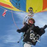 Landing into wind…